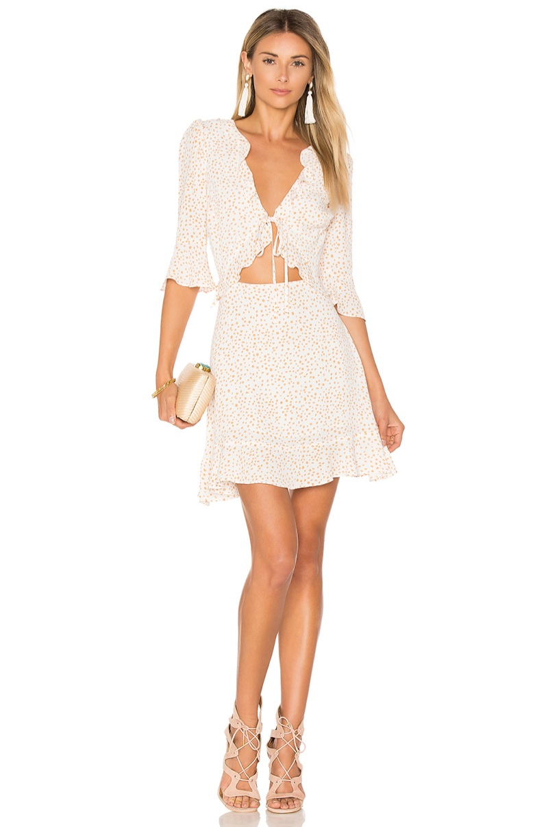 For Love & Lemons Nostalgic Tie Front Dress $193