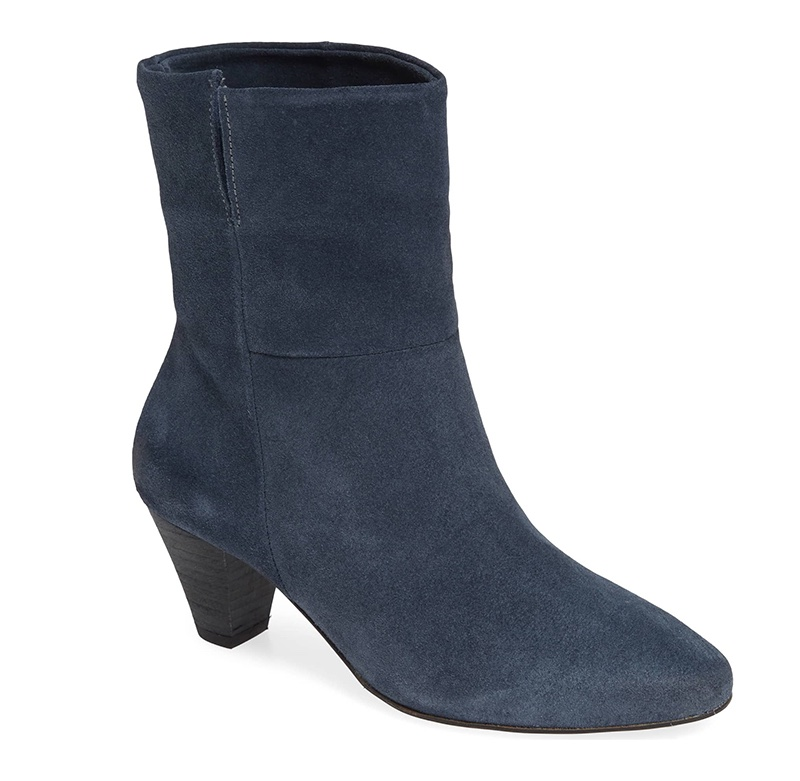Free People Adella Heel Bootie in Blue $168