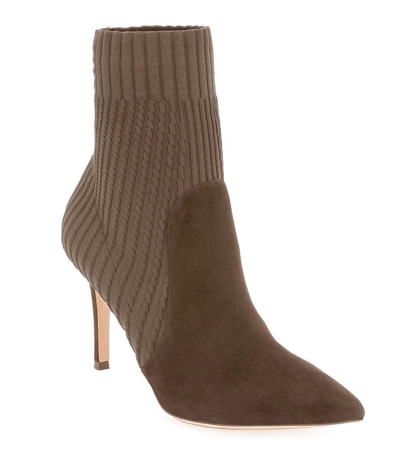 Gianvito Rossi Katie 85 Suede Sock Bootie $1,145