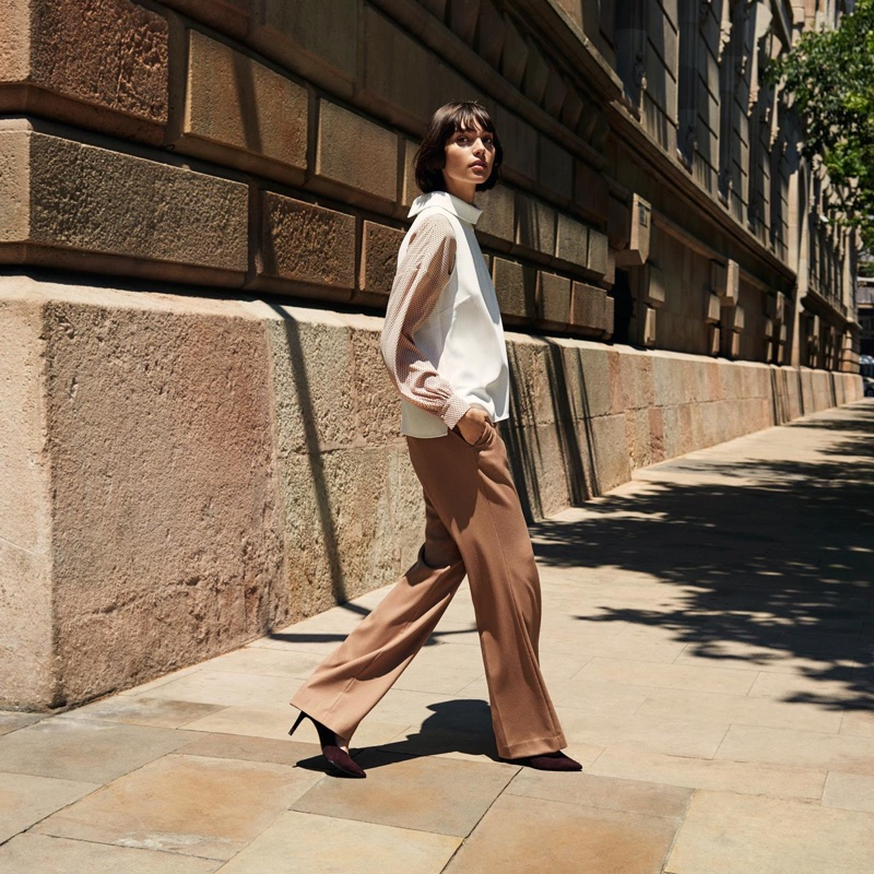 H&M Sleeveless Top and Wide-Cut Lyocell Pants