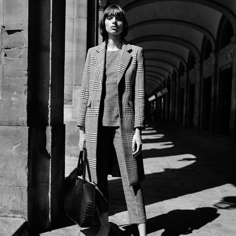 H&M Wool-Blend Coat, Long-Sleeved Top and Suit Pants