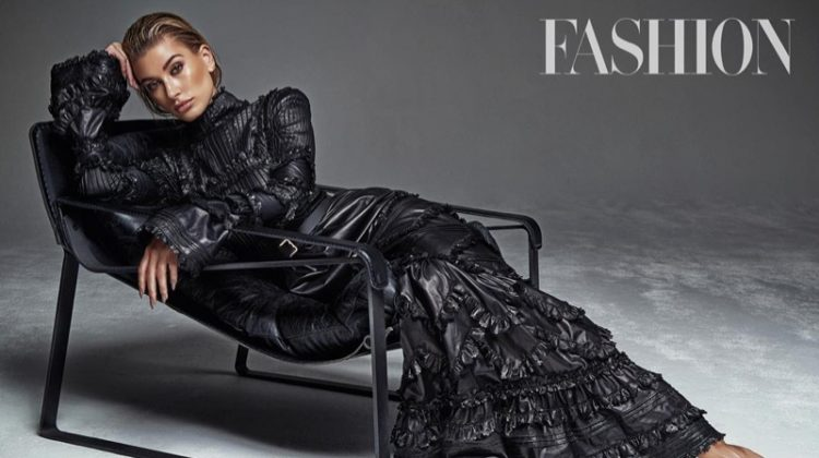 Hailey Baldwin Serves Up Cool Fall Looks in FASHION Magazine