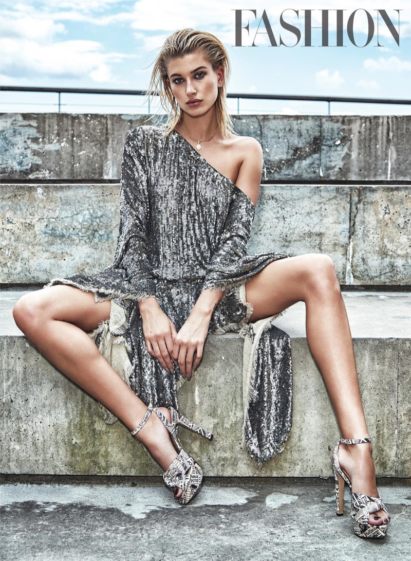 Hailey Baldwin FASHION Magazine October 2017 Cover