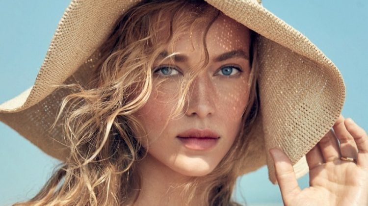 Hannah Ferguson Takes On Swimsuit Style in Harper's Bazaar UK