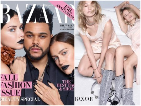 Irina Shayk, Adriana Lima & The Weeknd Cover Harper's Bazaar's September Issue (Photos)