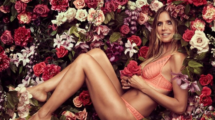 Supermodel Heidi Klum embraces lace for fall-winter 2017 Intimates campaign
