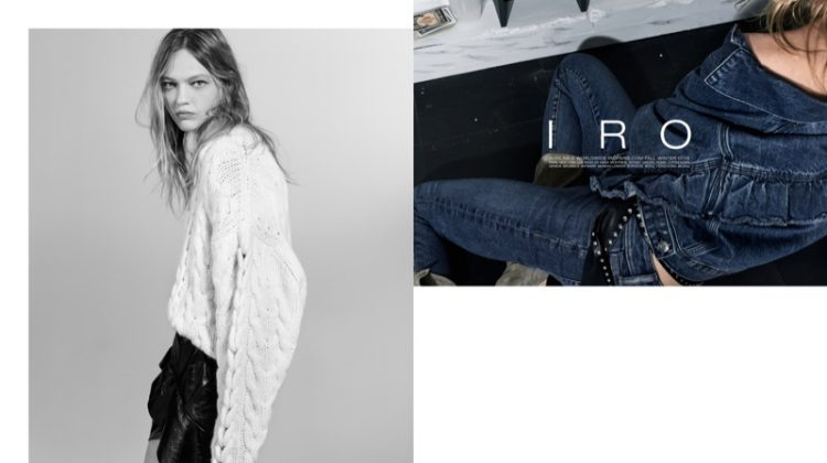 Sasha Pivovarova stars in Iro's fall-winter 2017 campaign