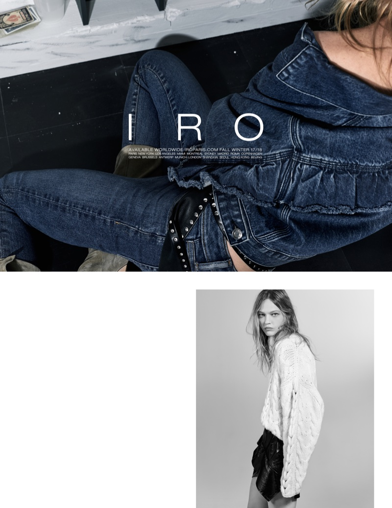 IRO focuses on denim for fall-winter 2017 campaign