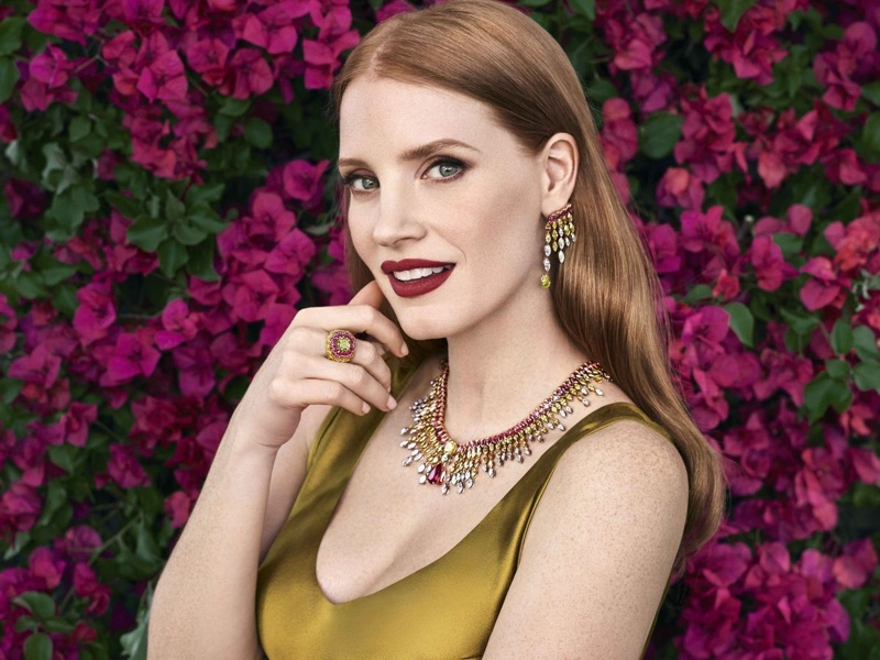 Jessica Chastain stars in Piaget Sunlight Journey campaign