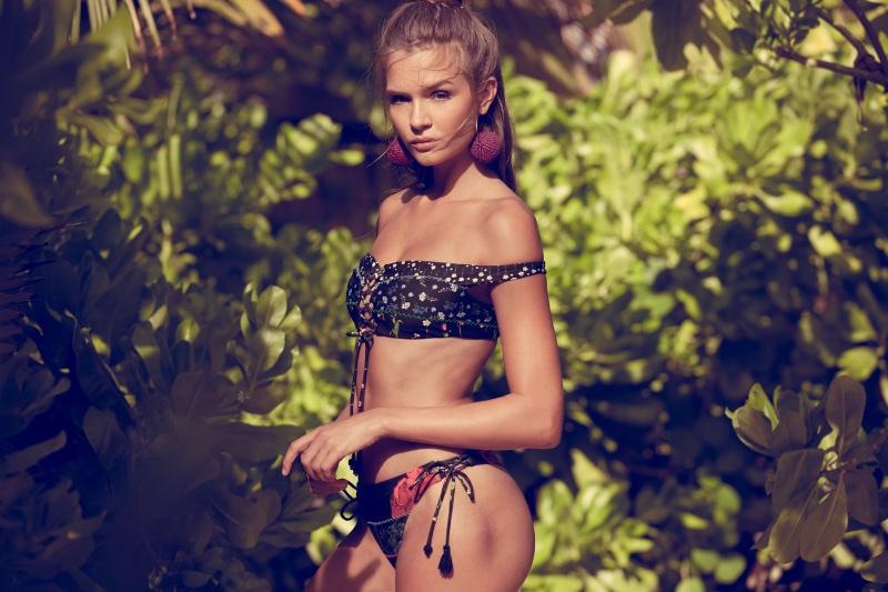 Josephine Skriver stars in Agua Bendita Swimwear campaign