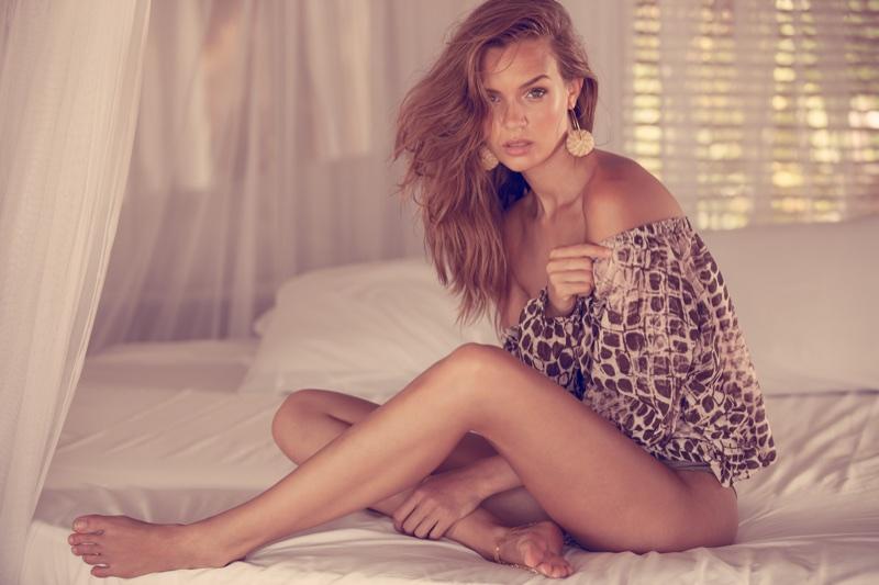 Model Josephine Skriver poses for Agua Bendita