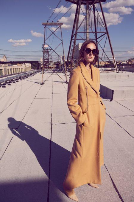 Josephine le Tutour Models Autumn Outerwear in Harper's Bazaar Germany