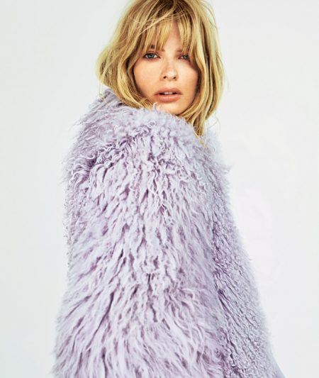 Julia Stegner Embraces Pastel Fall Looks in ELLE Germany