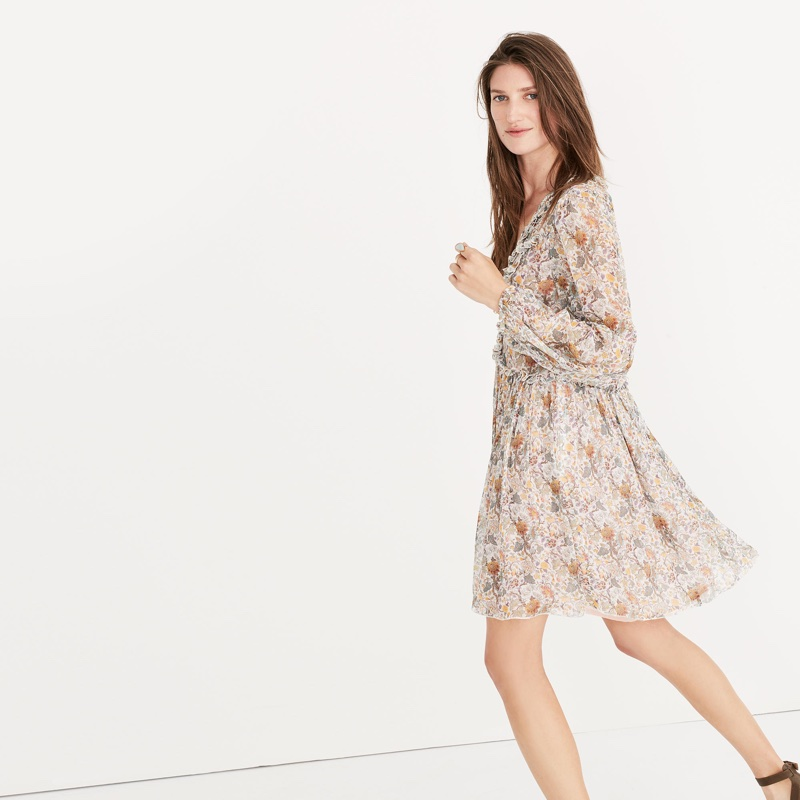 Karen Walker Silk Unicorn Whisper Dress $535