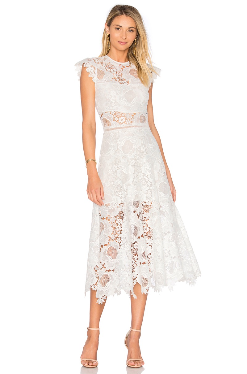 Karina Grimaldi Doriane Crochet Dress $372