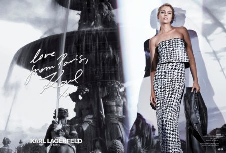 Stella Maxwell Models the Essentials in Karl Lagerfeld Paris' Fall 2017 Campaign