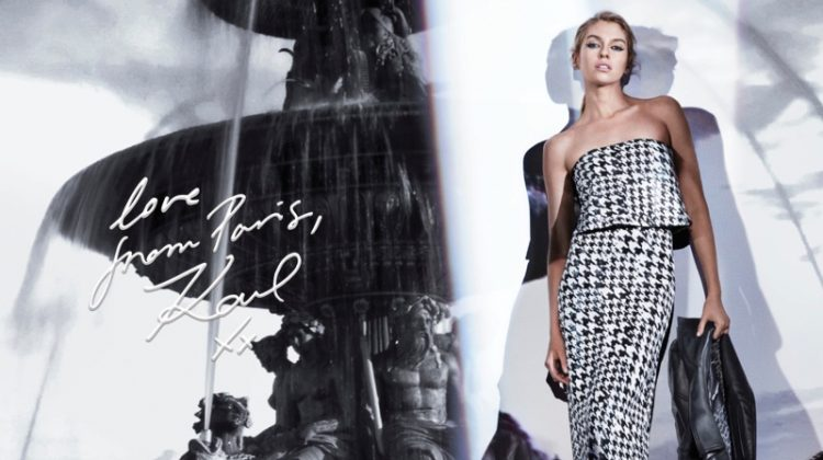 Stella Maxwell Models the Essentials in Karl Lagerfeld Paris' Fall 2017 Campaign