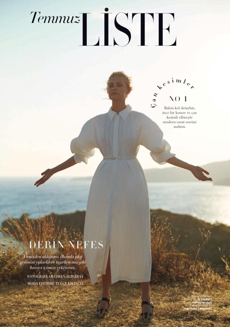 Karolina Bien Poses in Summer Styles for Harper's Bazaar Turkey