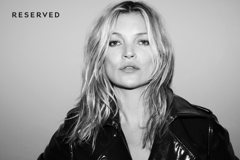 Kate Moss poses for Reserved fashion campaign