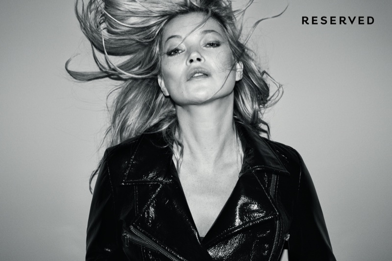 An image from Reserved's fall 2017 advertising campaign starring Kate Moss