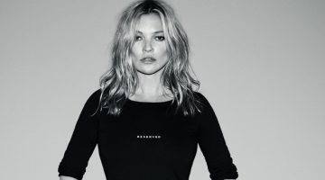 Kate Moss Wows in Black & White for Reserved's Fall 2017 Campaign