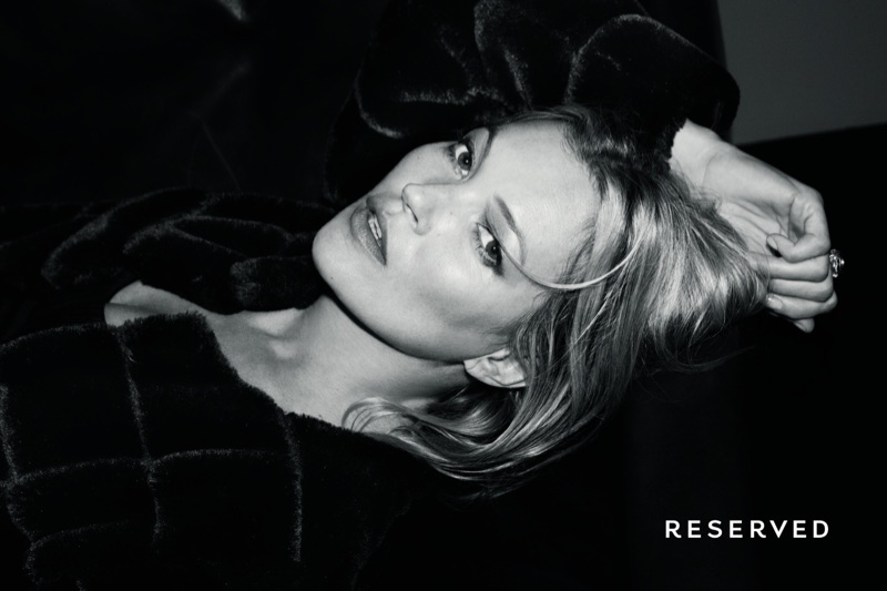 Supermodel Kate Moss fronts Reserved's fall-winter 2017 campaign