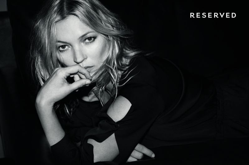 Kate Moss gets her closeup in Reserved's fall-winter 2017 campaign