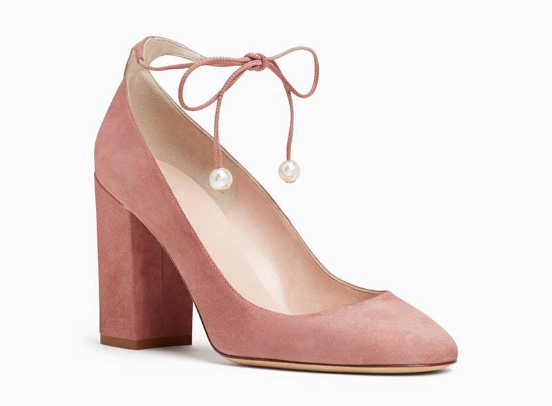 fcf3f0f6a3bc Kate Spade Gena Heels in Vintage Rose  298