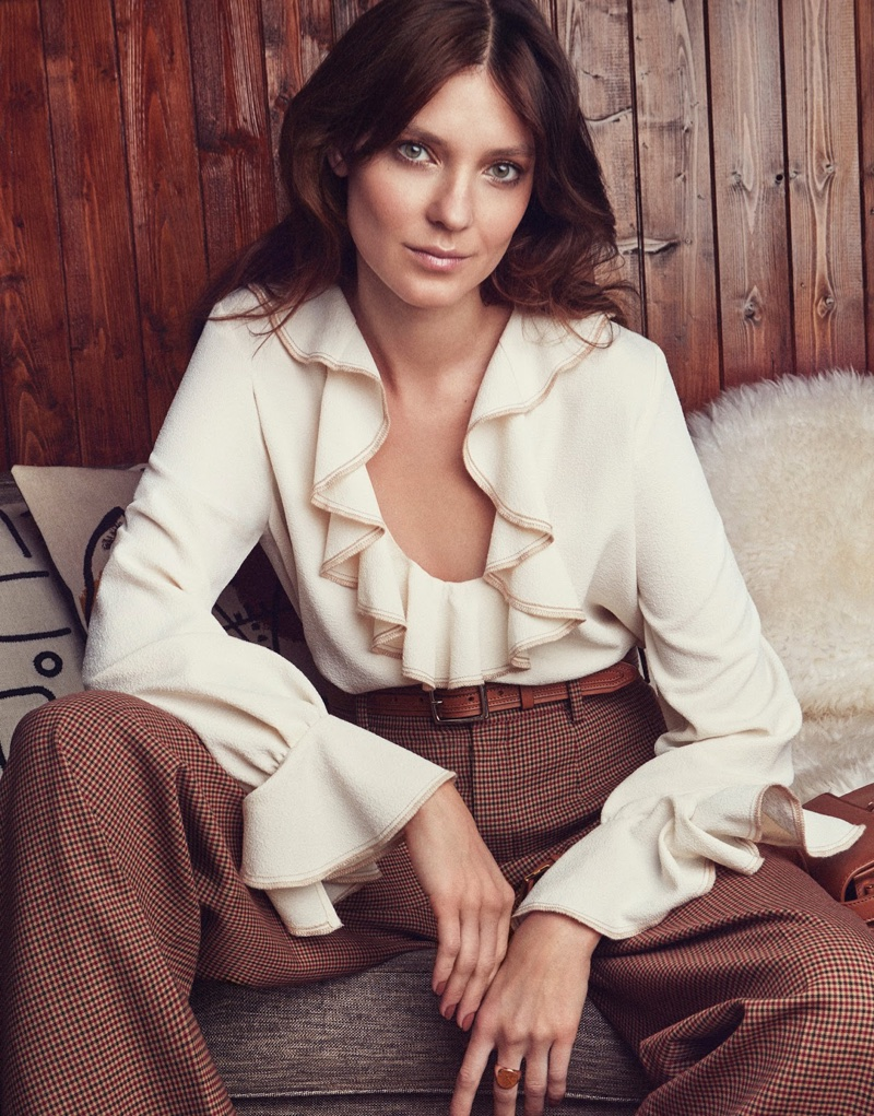 Kati Nescher Poses in 1970's Inspired Looks for The Edit