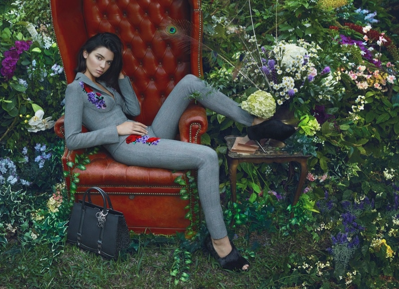 Kendall Jenner wears a tailored suit in La Perla's fall-winter 2017 campaign