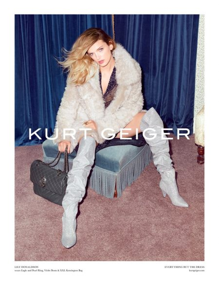 Lily Donaldson Rocks New Boot Trends in Kurt Geiger's Fall 2017 Campaign