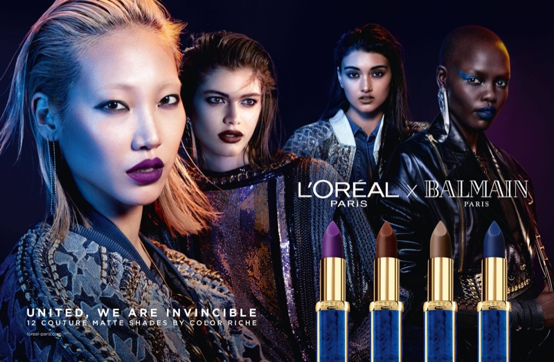 Balmain collaborates with L'Oreal Paris on makeup collection
