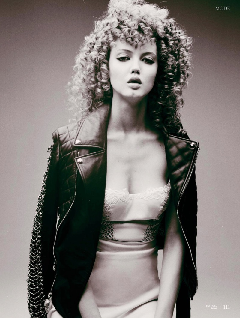 Lindsey Wixson Rocks Curly Hair in L'Officiel Switzerland
