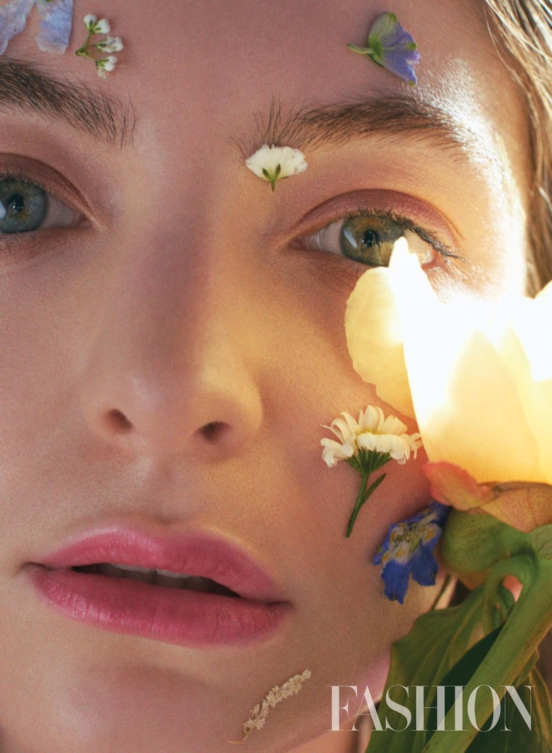 Lorde is a flower child in FASHION Magazine