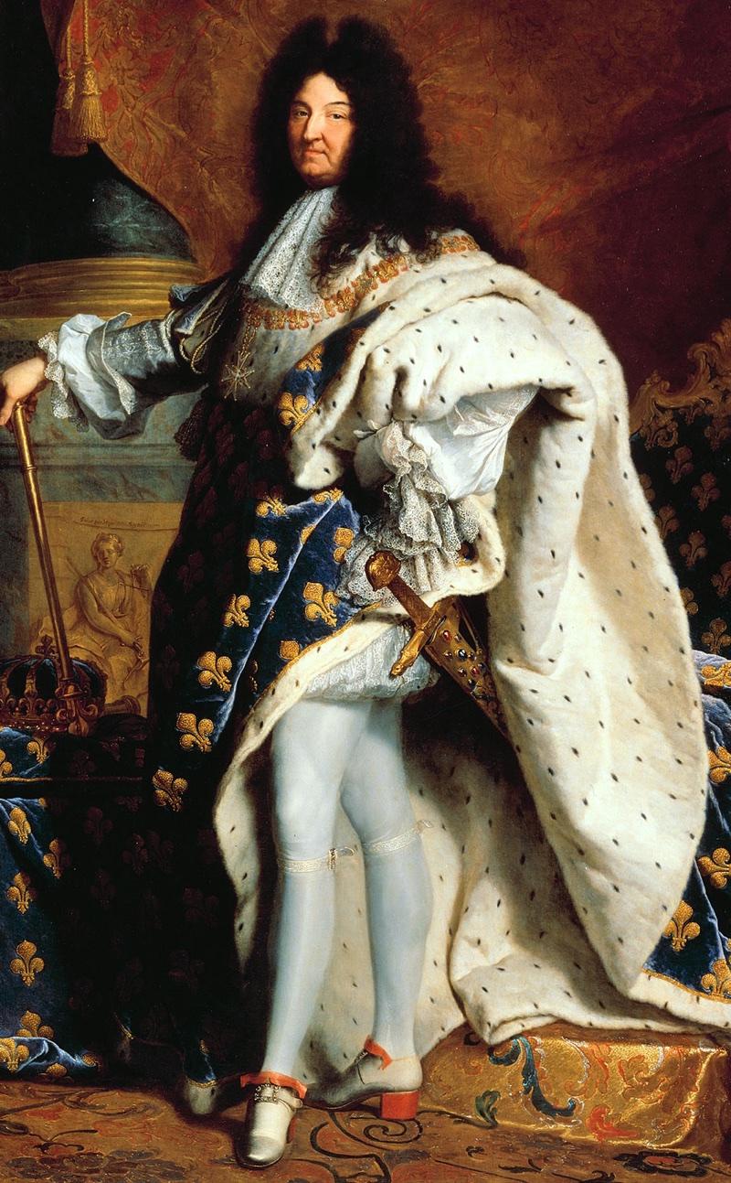 Louis XIV of France wearing heels