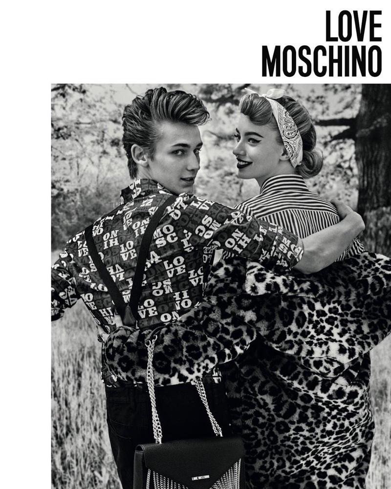 Retro style takes the spotlight in Love Moschino's fall-winter 2017 campaign