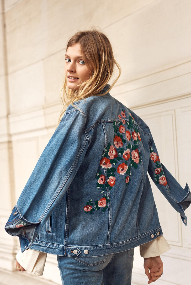 Madewell The Oversized Jean Jacket: Embroidered Edition
