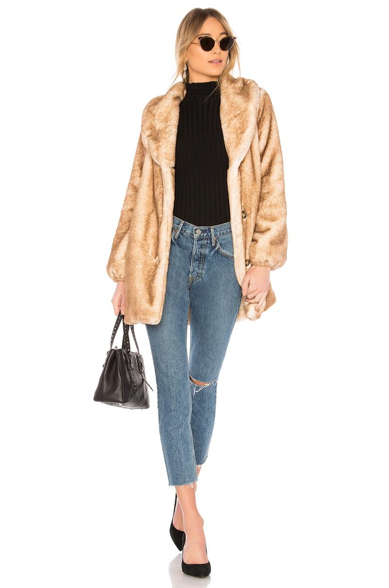 Majorelle Brinley Faux Fur Coat $258