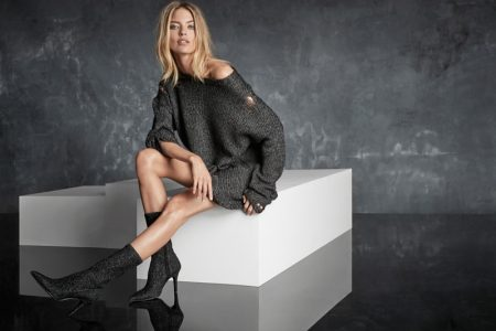 Martha Hunt Flaunts Some Leg in Marc Fisher's Fall 2017 Campaign