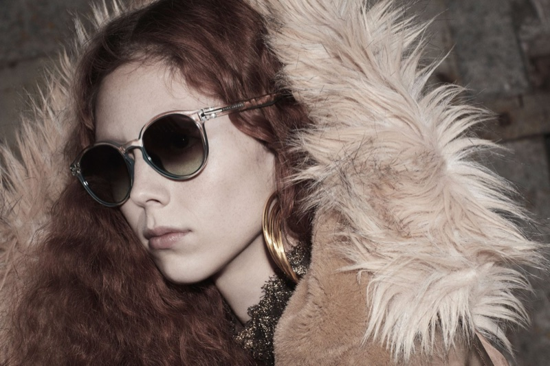 Natalie Westling wears sunglasses in Marc Jacobs' fall-winter 2017 campaign
