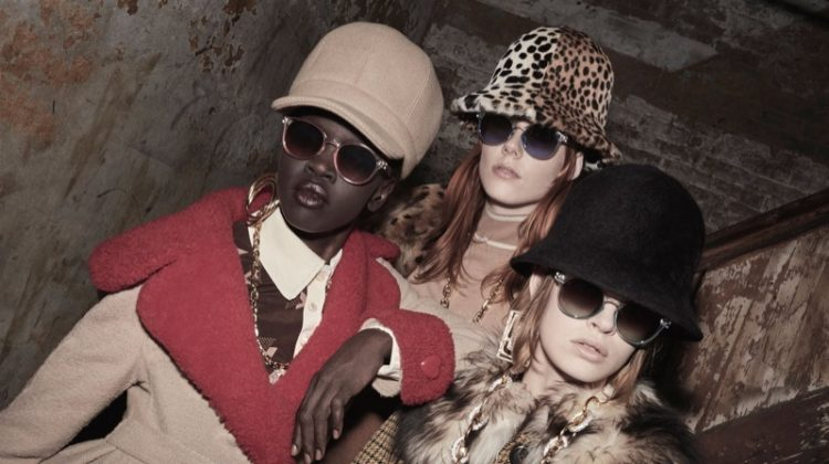 Alek Wek, Kiki Willems and Cara Taylor frontsMarc Jacobs fall 2017 advertising campaign