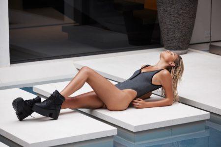 Meredith Mickelson Goes Poolside in Beach Bunny's Resort 2018 Swimwear
