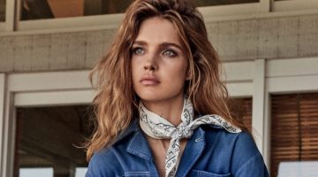 Natalia Vodianova Models Fashion with A Western Flair in Vogue Russia