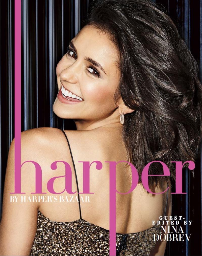 Nina Dobrev on harper Harper's Bazaar September 2017 Cover