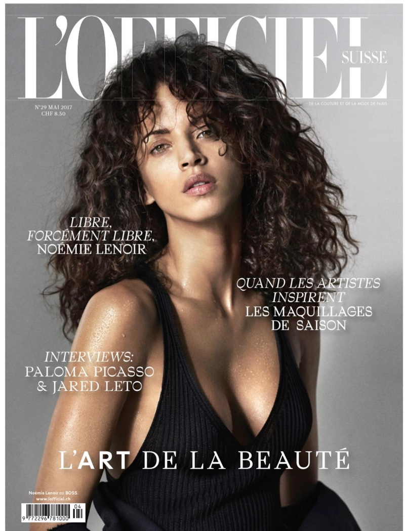 Noemie Lenoir Poses in Chic Styles for L'Officiel Switzerland