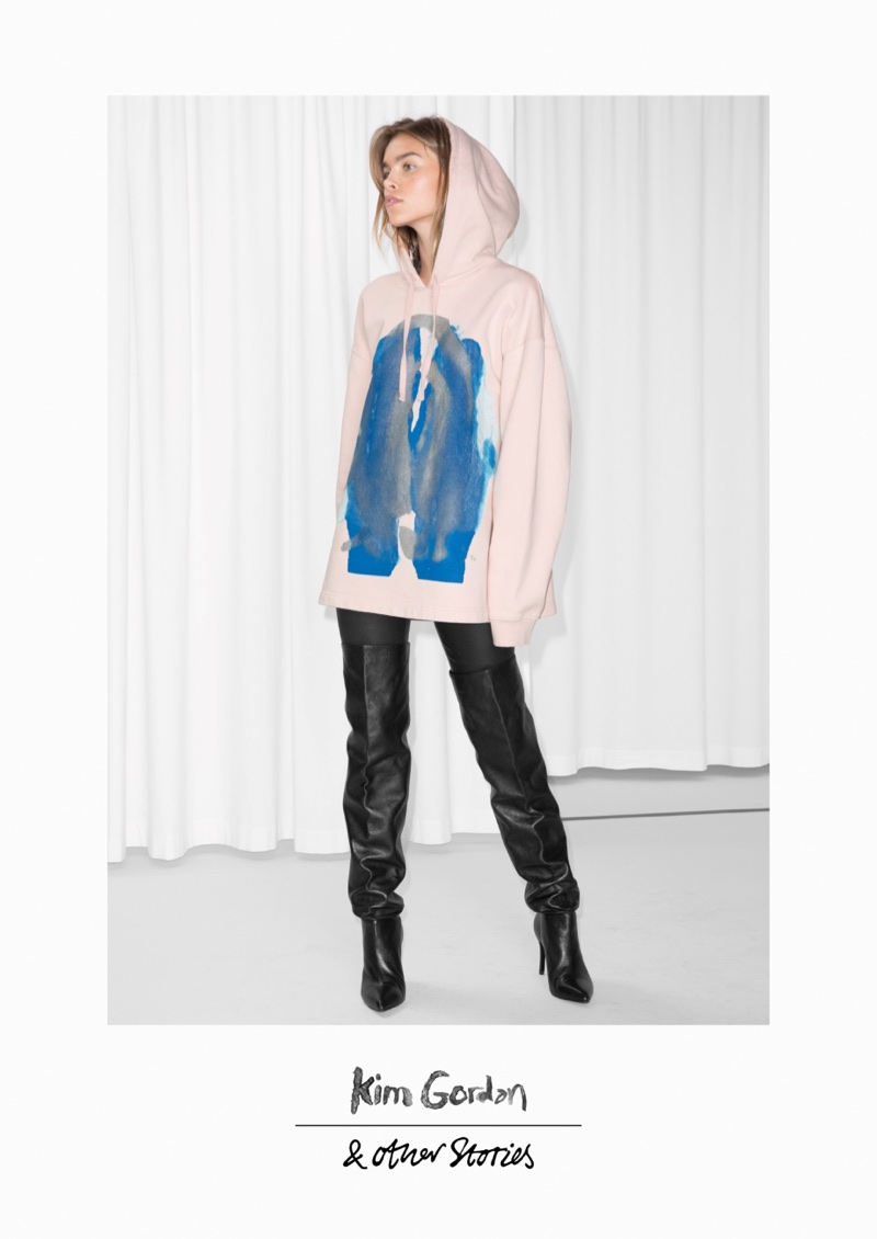 & Other Stories x Kim Gordon Abstract Oversized Hoodie $95
