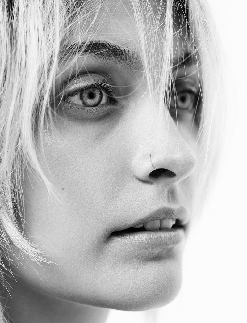 Photographed in black and white, Paris Jackson gets her closeup