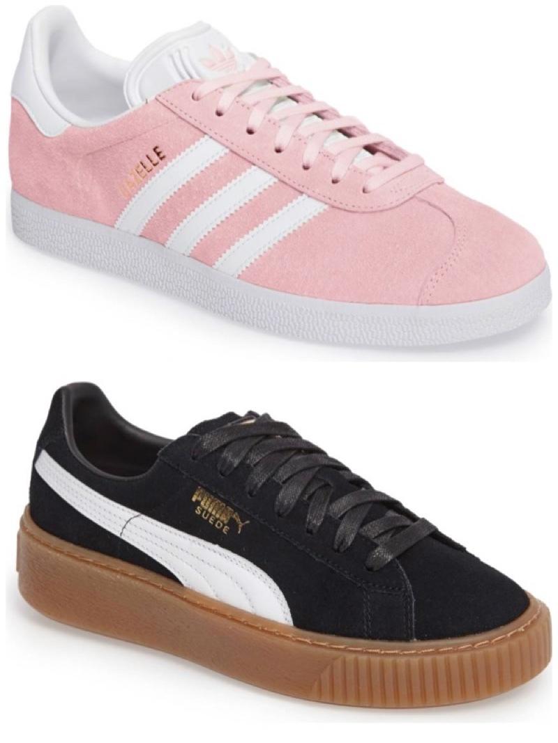 (Top) Adidas Sneakers (Bottom) Puma Sneakers