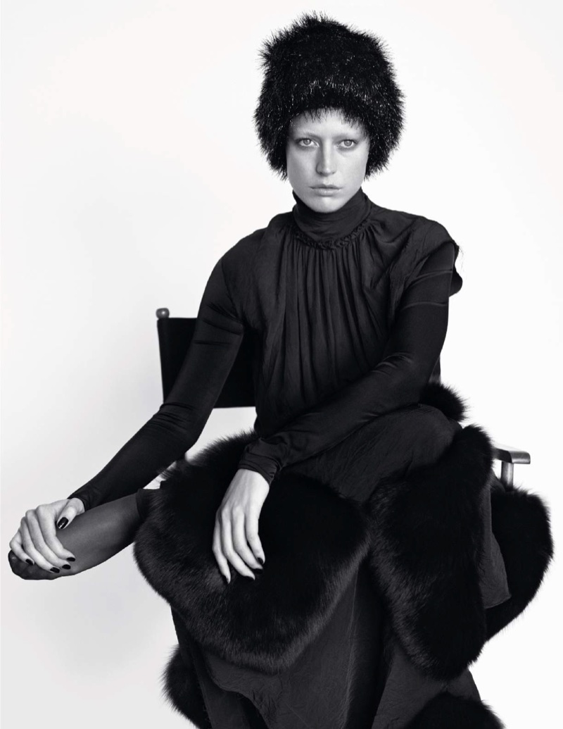 Raquel Zimmermann Transforms in the Autumn Collections for Vogue Paris