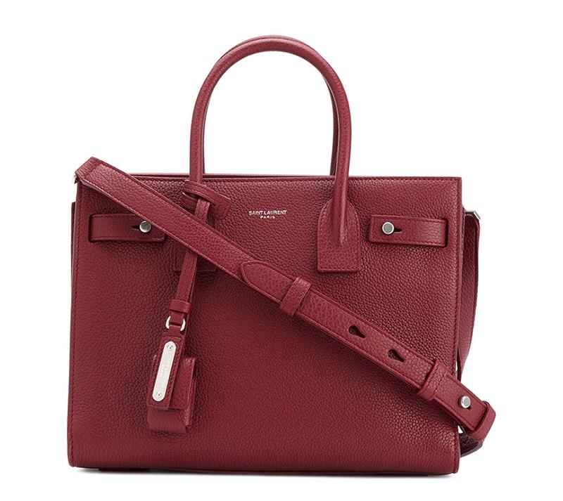 Saint Laurent Small Sac de Jour Souple Bag in Red $2,790